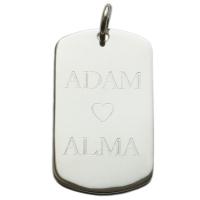 Hängsmycke dogtag Adam