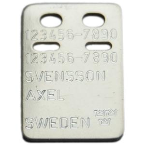 ID-bricka silver Axel