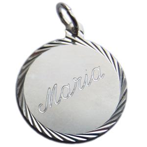 Namnbricka rund Maria